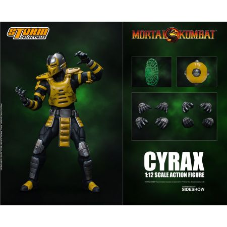 Mortal Combat Cyrax figurine 1:12 Storm Collectibles 905855