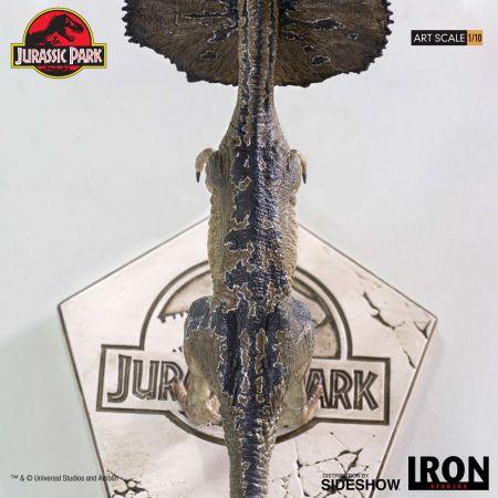 Le Parc jurassique Dilophosaurus Statue 1:10 Iron Studios 905804