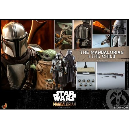 The Mandalorian and The Child (regular version) Collectible Set 1:6 Hot Toys 906135