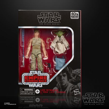 Star Wars Black Series Empire Strikes Back 40th Anniversary 6-inch Luke Skywalker and Yoda (Jedi Training) Hasbro