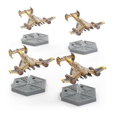 Aeronautica Imperialis Imperial Navy Avenger Strike Fighters (4 Citadel Miniatures)