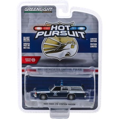 Hot Pursuit 1983 Ford LTD Station Wagon Capitol Police 1:64 Greenlight Collectibles 42900-A