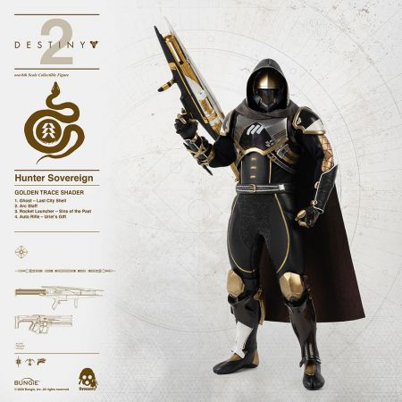 Hunter Sovereign (Golden Trace Shader) 1:6 figure Threezero 907067