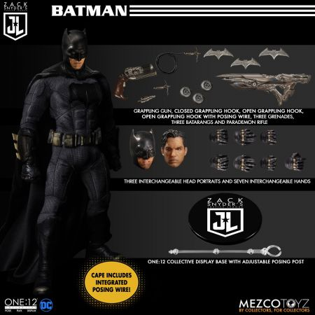 One-12 Collective Zack Snyder's Justice League Deluxe Action figures Steel Boxed Set Mezco Toyz 76732