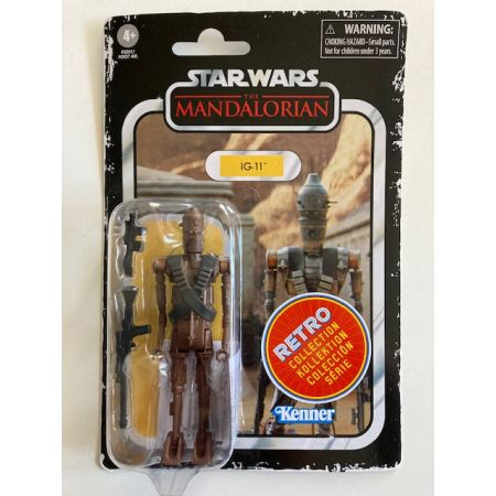 Star Wars The Mandalorian 3.75 The Retro Collection Kenner - IG-11 Hasbro
