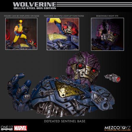 One-12 Collective Wolverine Figure Deluxe Steel Box Edition Mezco 76536
