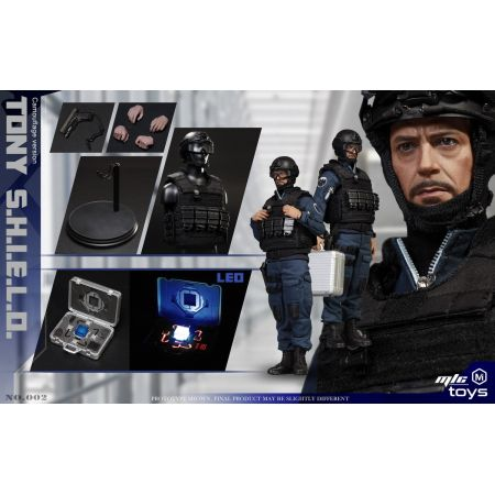 Tony SHIELD Stealth Edition Uniform 1:6 Scale Figure MicToys MIC 002