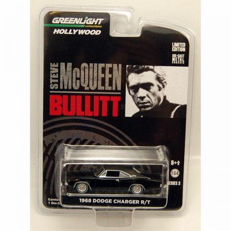 Steve McQueen Bullitt 1968 Dodge Charger 1/64 série 3 Greenlight Collectibles 44630