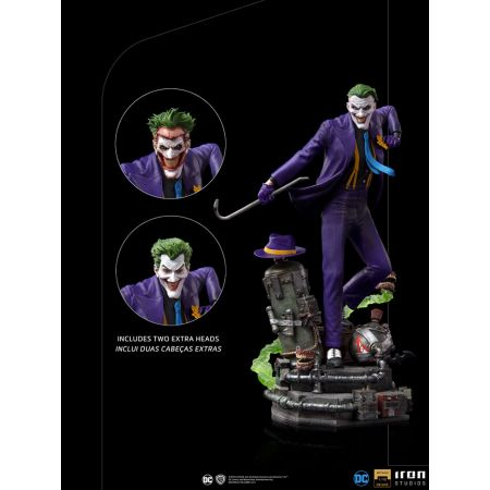The Joker DELUXE 1:10 Scale Statue Iron Studios 908229