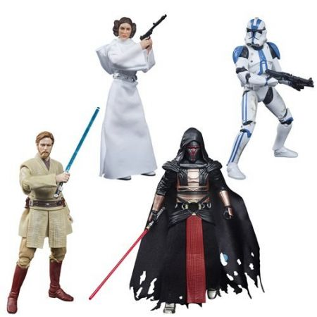 Star Wars The Black Series Archive 6-inch Wave 5 (501st Legion Clone Trooper, Leia Organa, Darth Revan, Obi-Wan Kenobi) Set of 4 Figures Hasbro