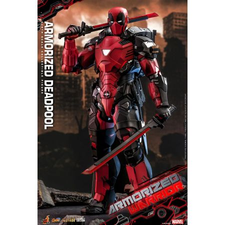 Armorized Deadpool 1:6 Scale Figure Diecast Hot Toys 908909