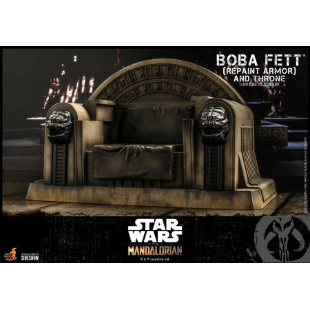 Boba Fett (Repaint Armor) and Throne 1:6 Scale Figure Set Hot Toys 908858