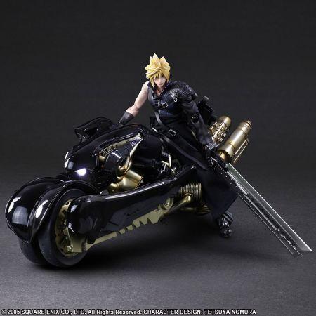 Final Fantasy VII Advent Children Cloud Strife & Fenrir Action Figure Square Enix 908758