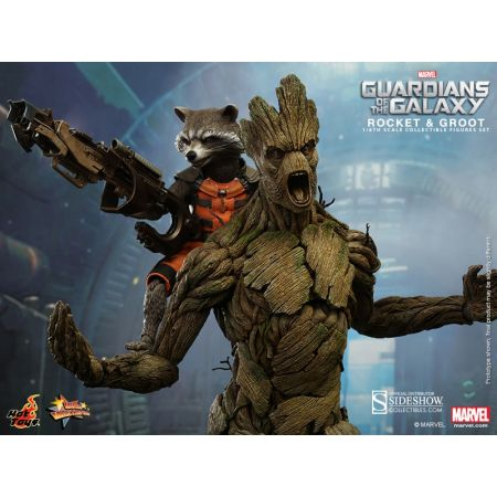 Marvel Rocket and Groot Guardians of the Galaxy 1:6 Figure Set Hot Toys MMS254 902239