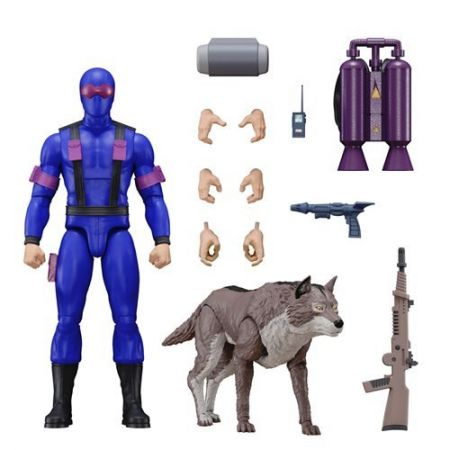 GI Joe Ultimates Snake Eyes 7-Inch Action Figure with Timber Super7 81724