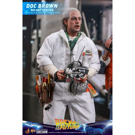 Back to the Future Doc Brown DELUXE VERSION 1:6 Scale action figure Hot Toys 909291