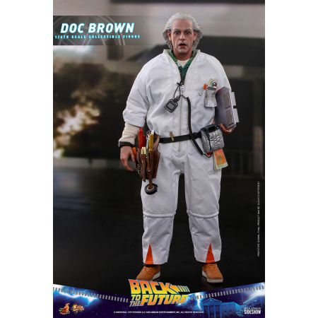 Back to the Future Doc Brown REGULAR VERSION 1:6 Scale action figure Hot Toys 909290