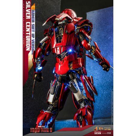 Marvel Iron Man Mark XXXIII (MK 33) Silver Centurion (Armor Suit Up Version) DIECAST 1:6 Scale Figure Hot Toys 909463