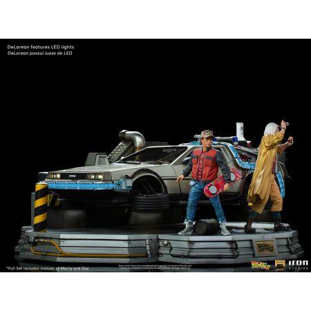 Back to the Future 2 - DeLorean Set Full Deluxe Version 1:10 Scale Statue Iron Studios 909537