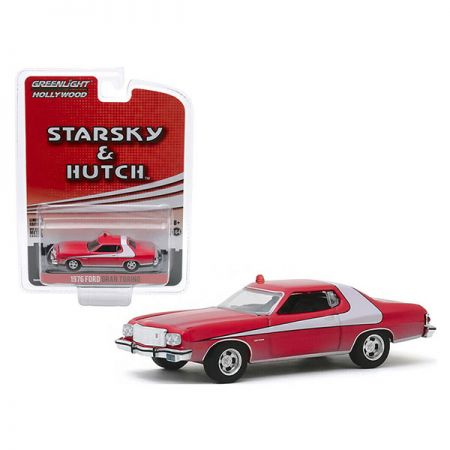 Starsky & Hutch 1976 Ford Gran Torino 1:64 scale (weathered version) diecast Greenlight Hollywood Collectibles 44855-F
