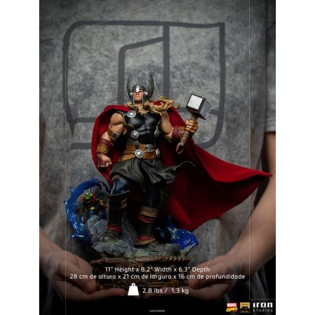 Marvel Thor Unleashed Deluxe 1:10 Scale Statue Iron Studios 909135