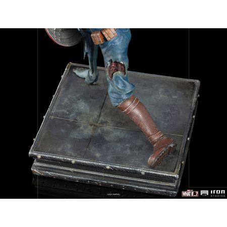 Marvel Zombie Captain America 1:10 Scale Statue Iron Studios 909516