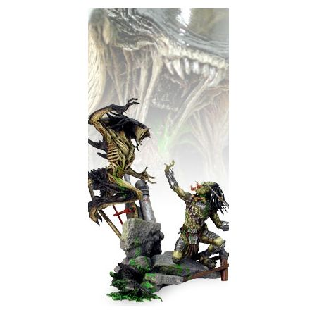Aliens VS Predator requiem diorama (Predalien VS Predator) Hot Toys DMS02  (20002)
