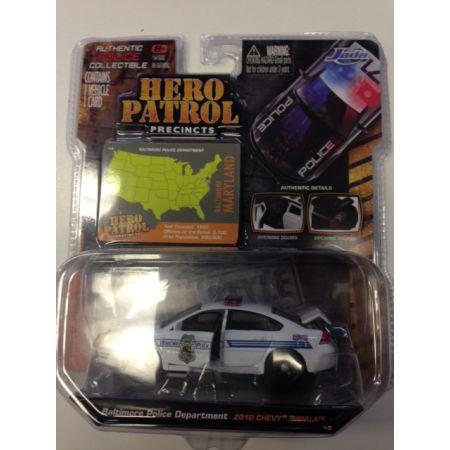 HERO Patrol Precincts Wave 4 Baltimore Police Department 2010 Chevy Impala 1:64 JADA 45 14016