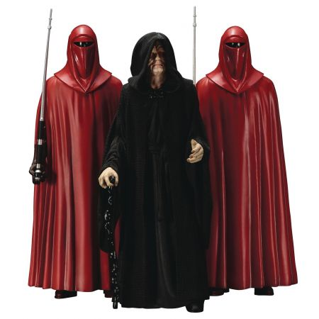 Star Wars Emperor Palpatine with Royal Guard 3-pack Artfx Statue 1:10 Kotobukiya